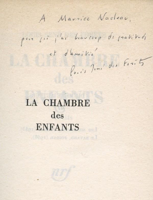 DES FORÊTS (Louis-René)