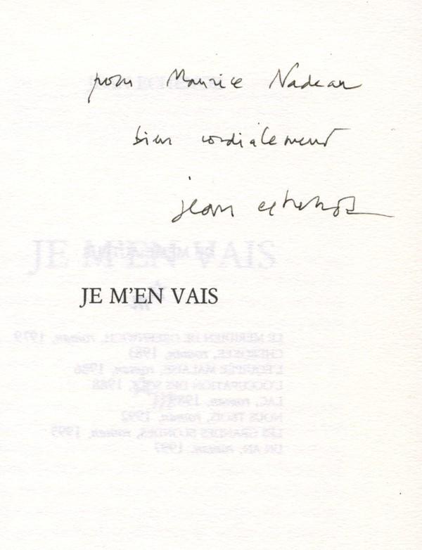 ECHENOZ (Jean)