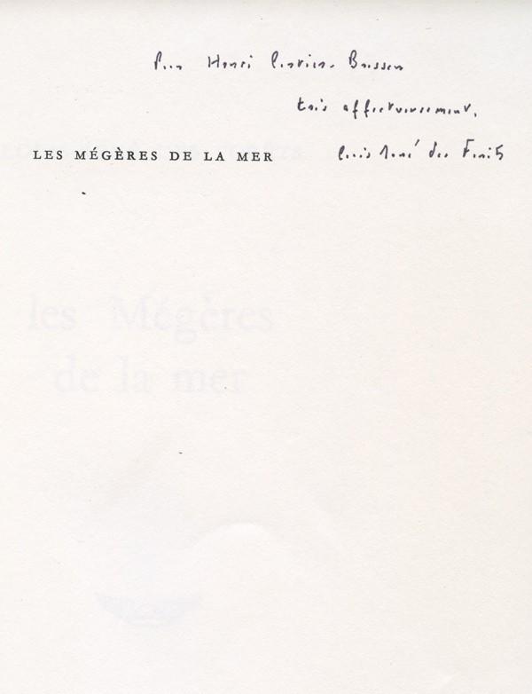 DES FORETS (Louis-René)