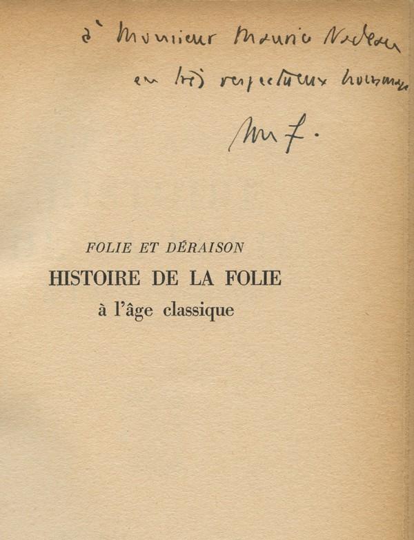FOUCAULT (Michel)