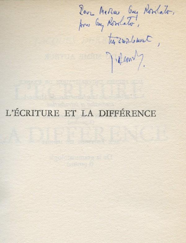 DERRIDA (Jacques)