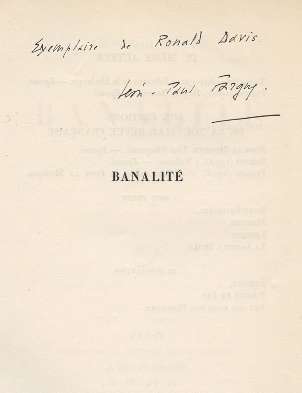 FARGUE (Léon-Paul)