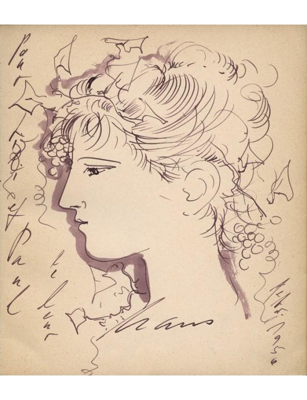 ROY (Claude) Hans Erni dessin original