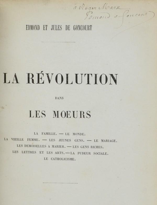 GONCOURT (Edmond et Jules de)