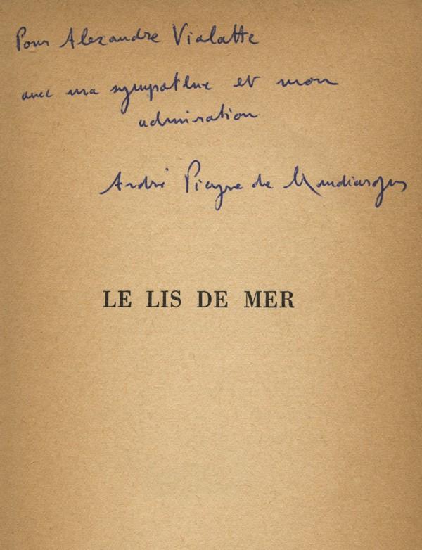 PIEYRE DE MANDIARGUES (André)