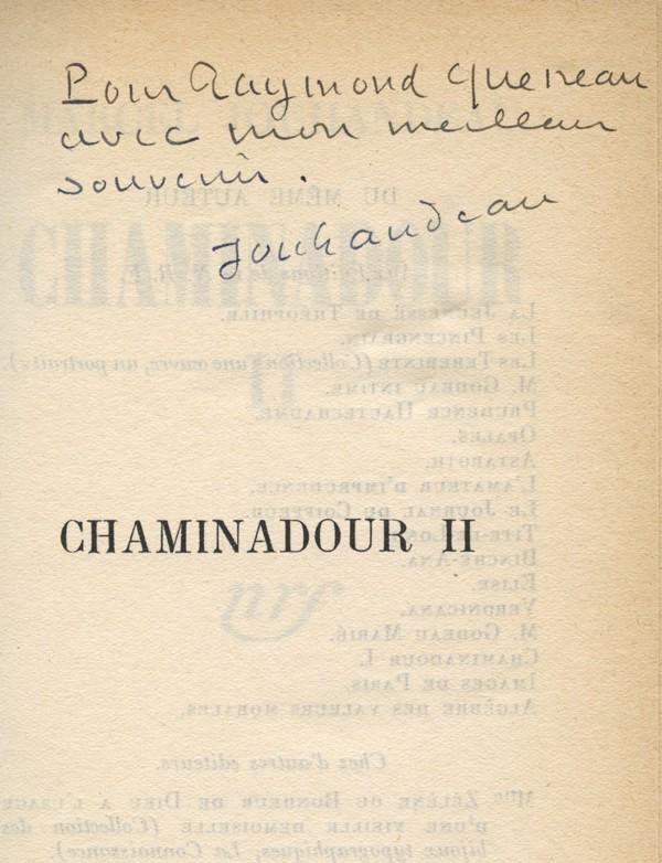 JOUHANDEAU (Marcel)