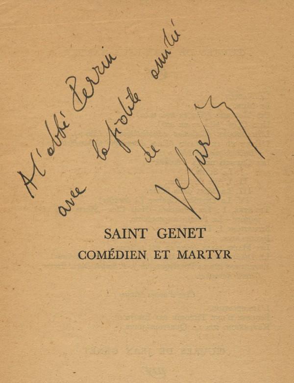 [GENET (Jean)] SARTRE (Jean-Paul)