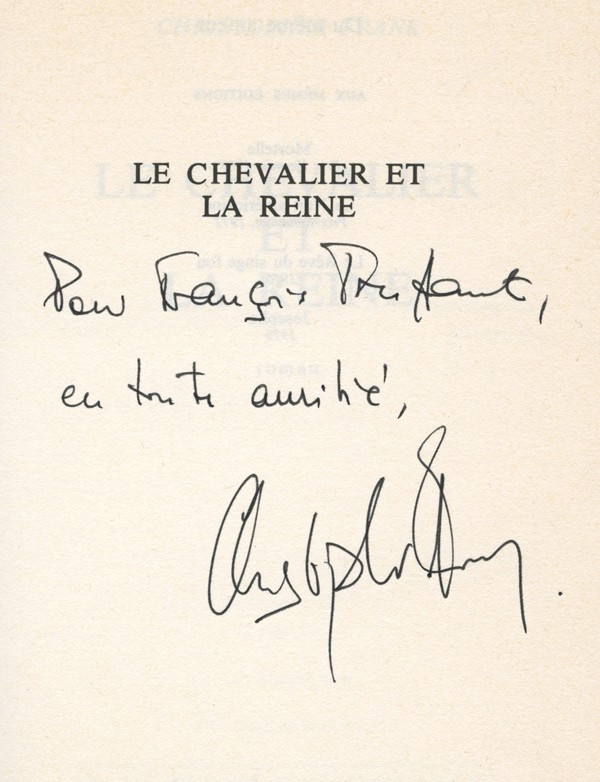 [TRUFFAUT (François)] FRANK (Christopher)