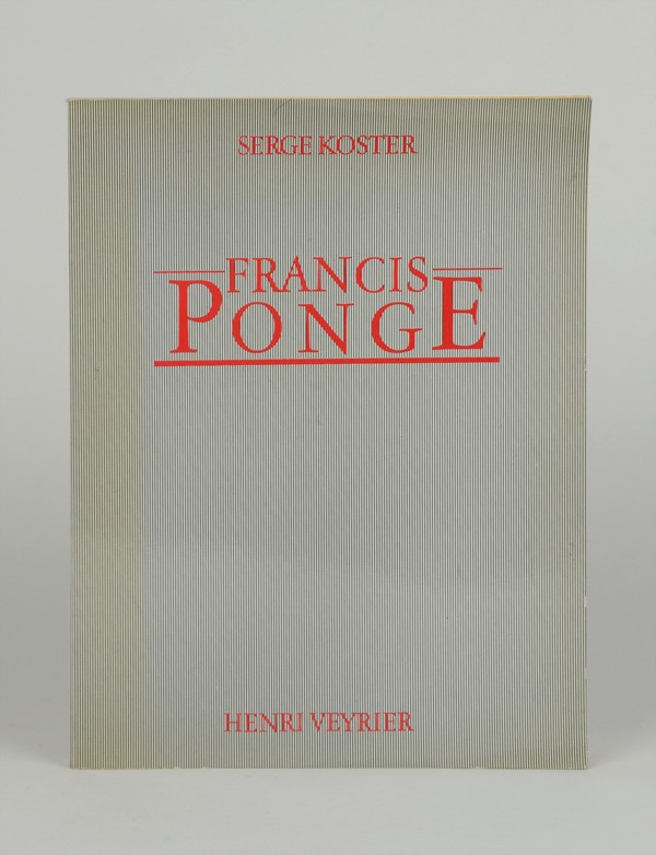 [PONGE (Francis)] KOSTER (Serge)
