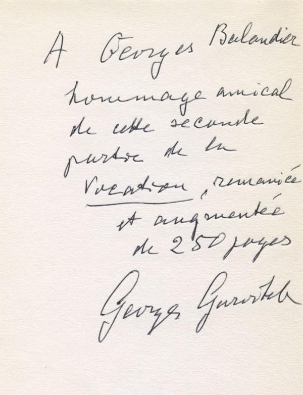 GURVITCH (Georges)
