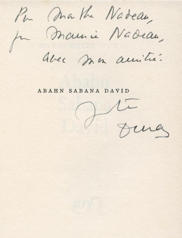 DURAS (Marguerite)