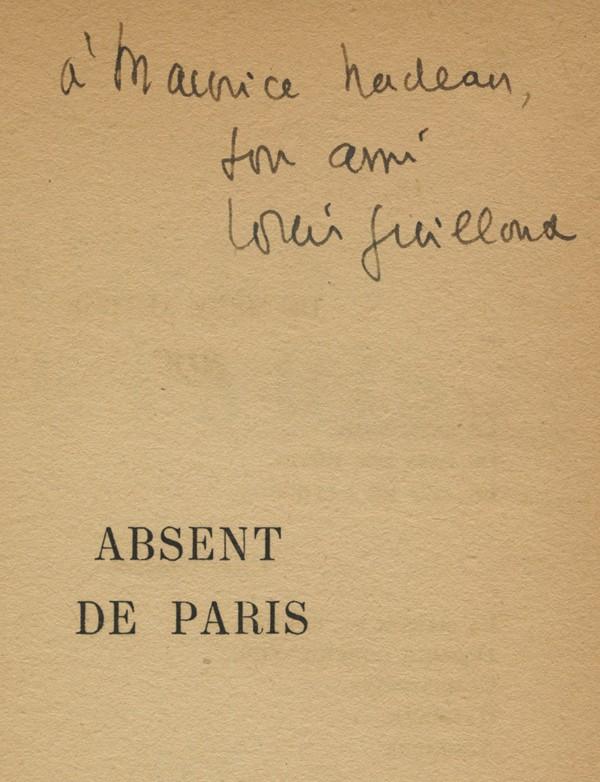 GUILLOUX (Louis) Absent de Paris