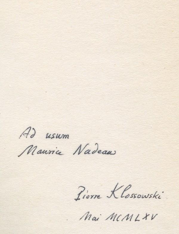 KLOSSOWSKI (Pierre)