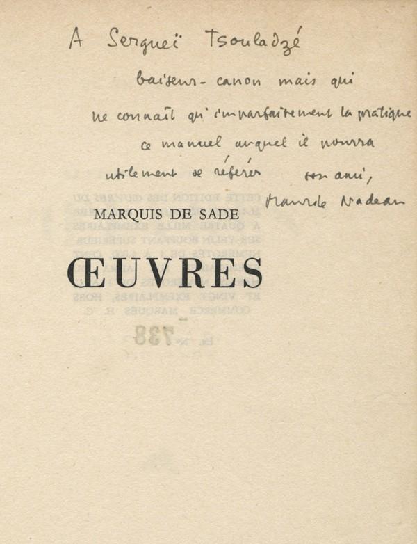 SADE (Marquis, de)