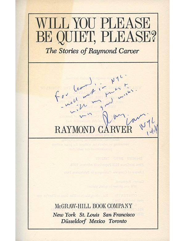 CARVER (Raymond)