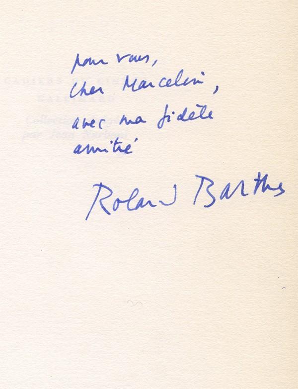 BARTHES (Roland)