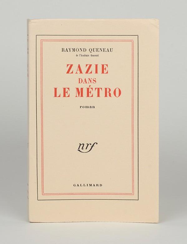 QUENEAU (Raymond) Zazie dans le métro Gallimard 1959