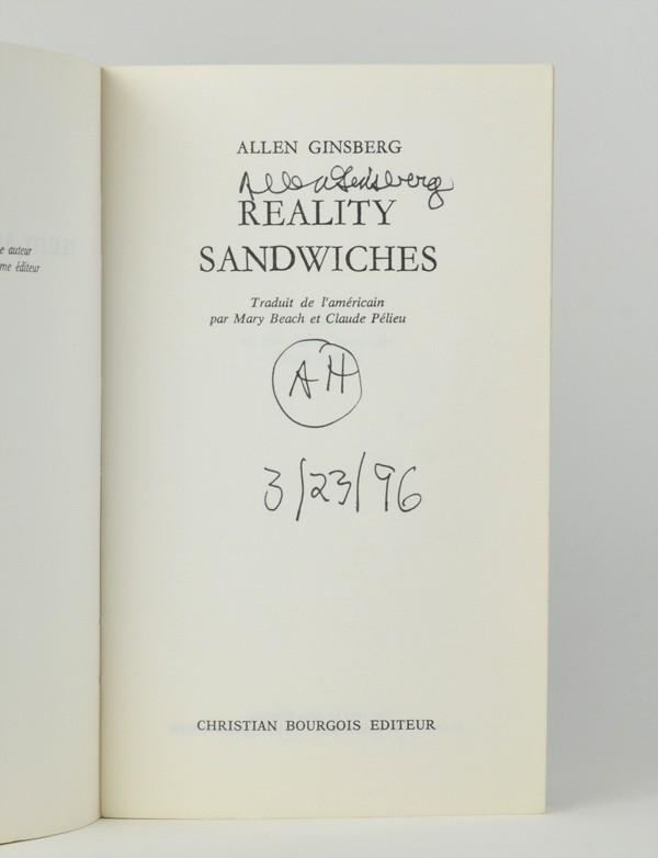 GINSBERG (Allen)