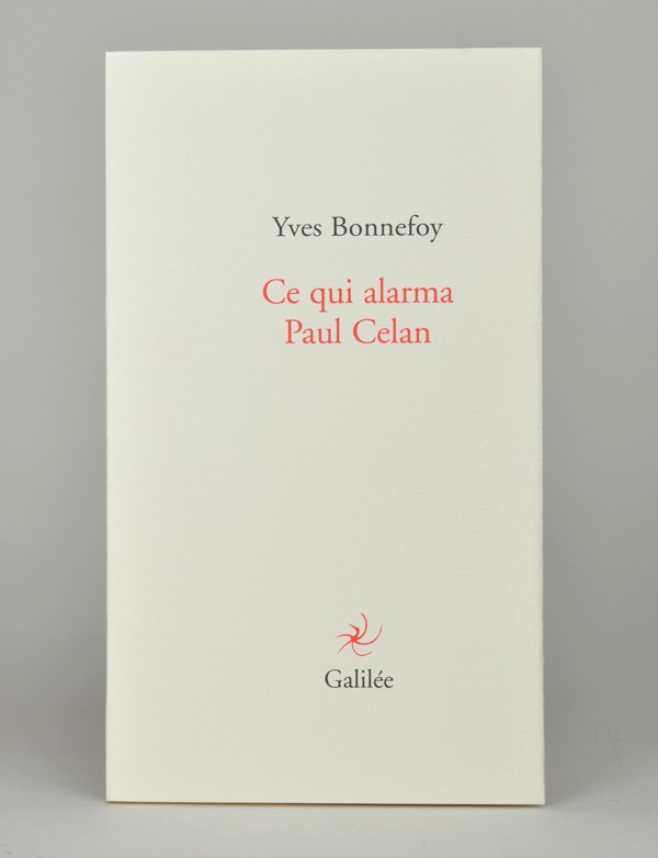 [CELAN (Paul)] BONNEFOY (Yves)