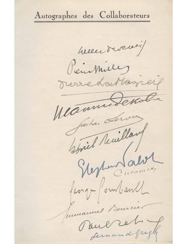 COLLECTIF - BERAUD (Henri), CURNONSKY, DEKOBRA (Maurice), DORGELÈS (Roland), LEBLANC (Maurice), LEROUX (Gaston), LONDRES (Albert), ROSNY AÎNÉ (J.-H.), SÉE (Edmond), VANDÉREM (Fernand) ...
